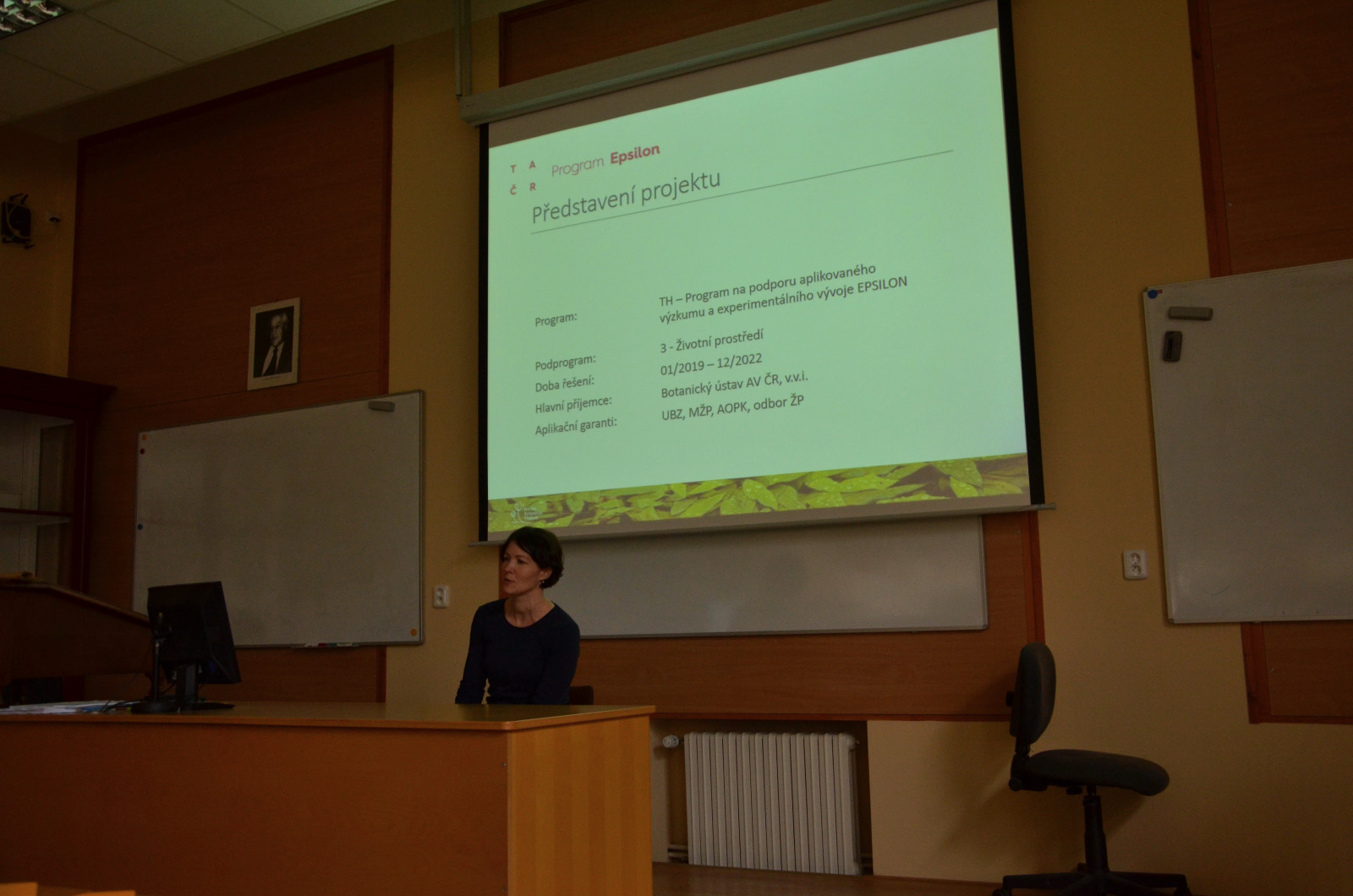 Presentation of the TAČR Epsilon project at general meeting of Union of Botanical Gardens 2019