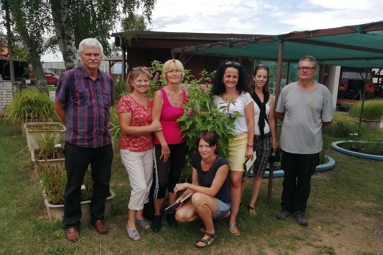 Návštěva z Botanické zahrady SPU Nitra 19.8.2019