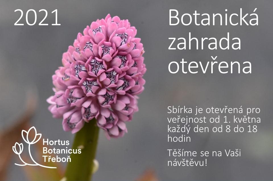 Botanická zahrada Třeboň opět plně přístupná veřejnosti